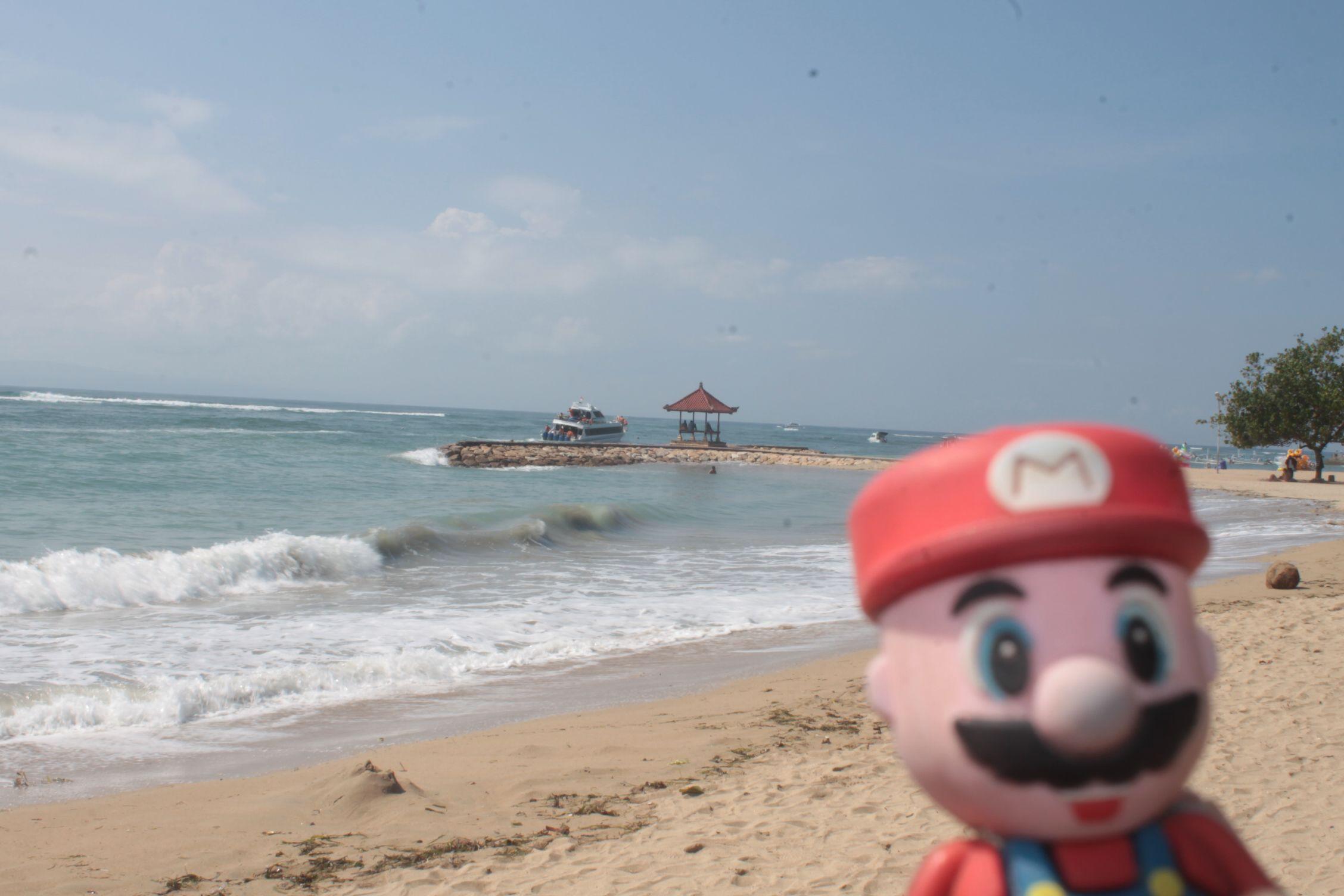 En Sanur Beach, Bali