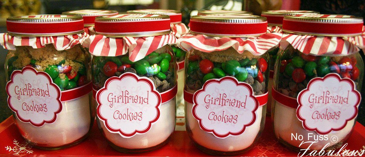 Christmas Girlfriend Cookies In A Jar Christmas Gifts For Girlfriend Teacher Christmas Gifts Mason Jar Gifts