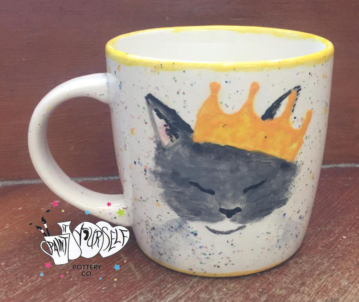 Queen cat mug in 2020 Cat mug, Painting for kids
