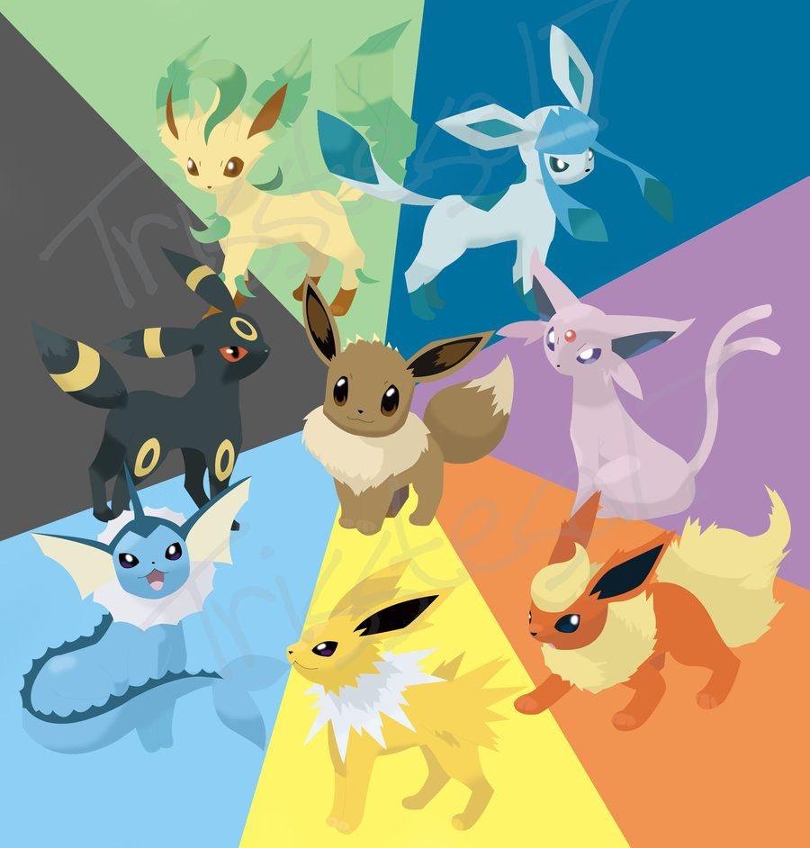 Eevee Evolutions Google Search Eevee Wallpaper Eevee Kawaii Wallpaper