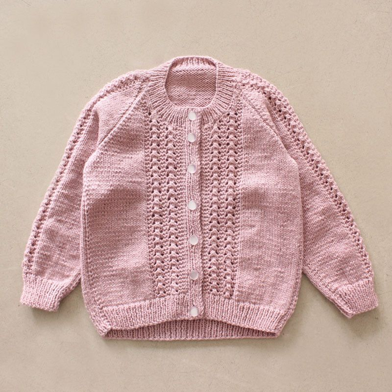 Handknitted Cable Cardigan - Musk – Shorties Childrens Store