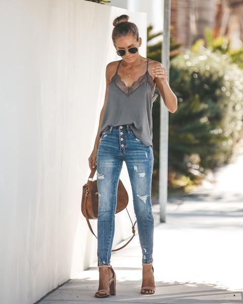 50+ How to Wear High Waist Jeans for All Season Ideas