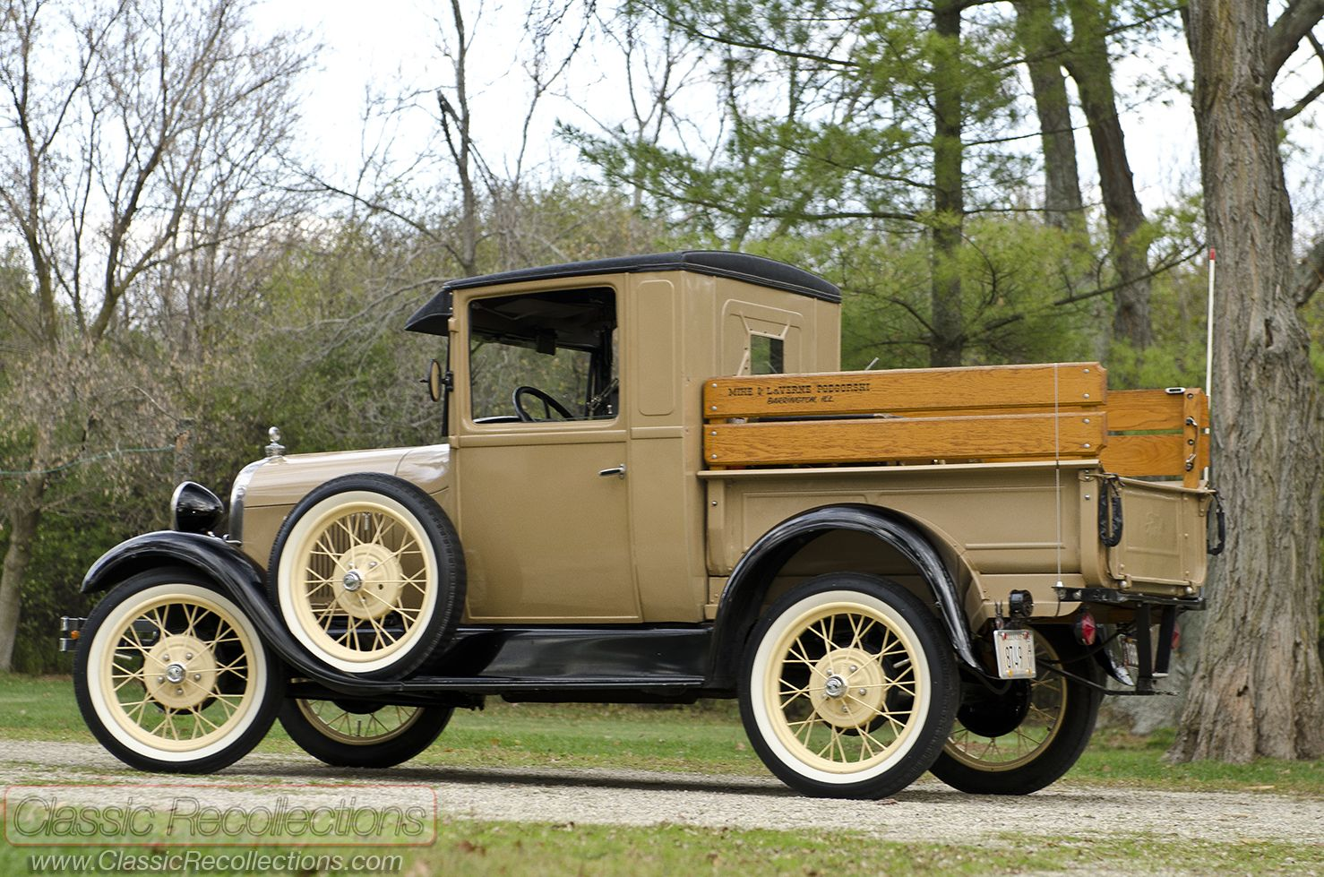This 1928 Ford Model A Pickup and 1930 Ford Model A Town Sedan have been  restored