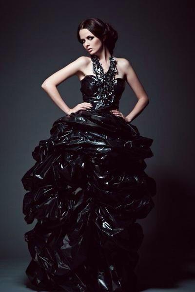 Pvc Gown Vestido Reciclado Vestidos De Catrinas Y Moda