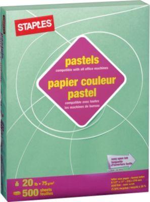 bureau en gros a tout ce qu il vous faut staples papier a copies recycle a 30 couleurs pastel lettre 8 1 2 p profitez de la livraison gratuite