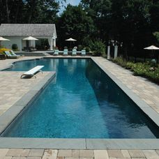 Pool With Lap Lanes And For Play Area Google Search Lap Pools Backyard Lap Pool Designs Backyard Pool