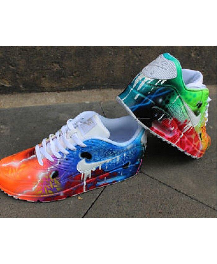 low priced 92e32 84e31 Nike Air Max 90 blanc gouttes chaussures Galaxy