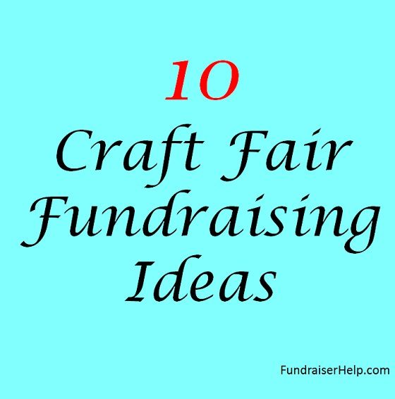 craft fair fundraising ideas