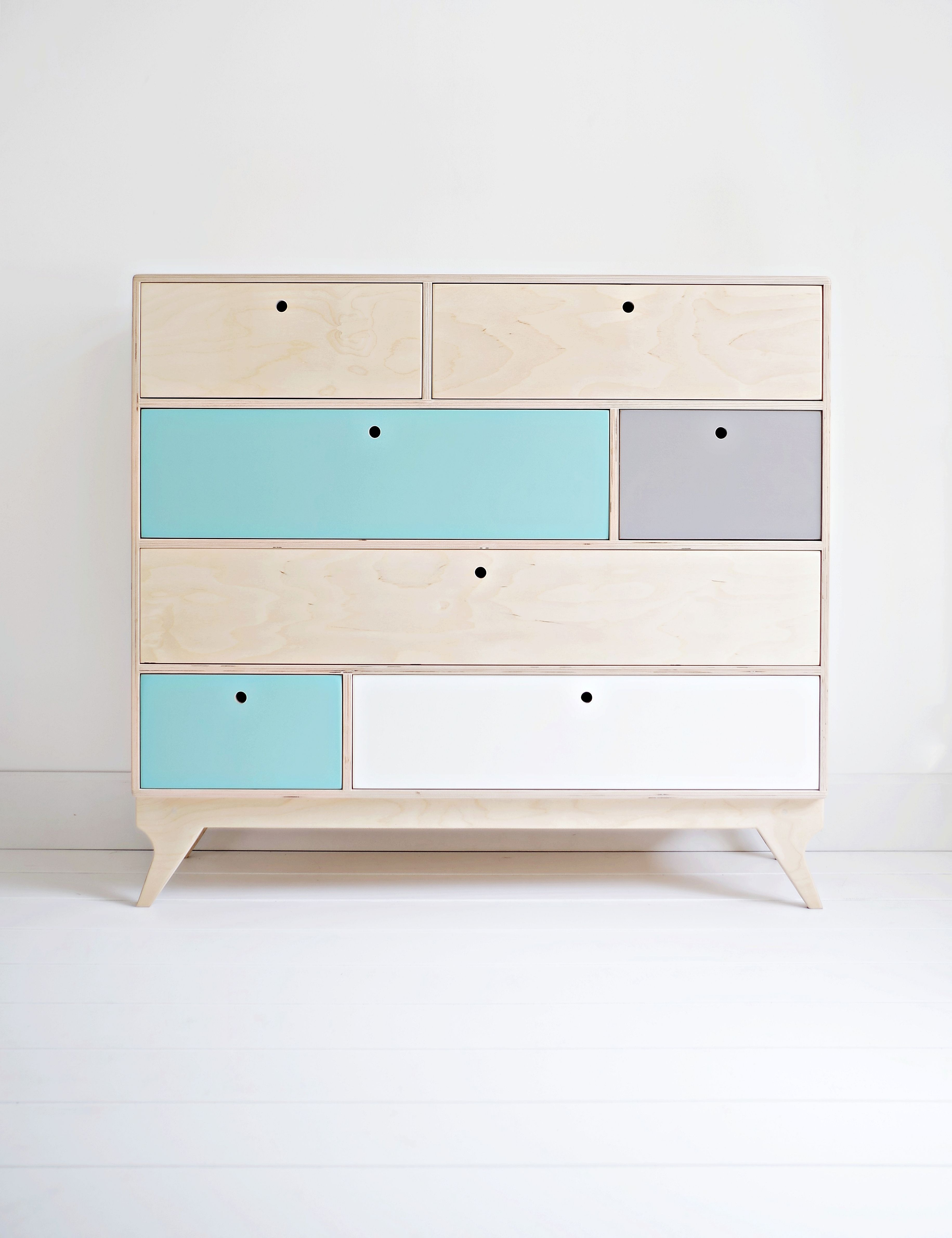 Klops Our Scandinavian, Plywood Chest Of Drawers Bureau Designed By