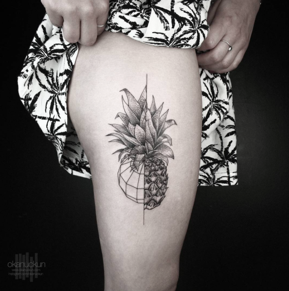 Geometric Pineapple By Okan Uckun