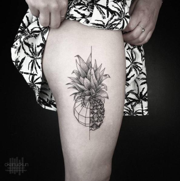Geometric Pineapple By Okan Uckun