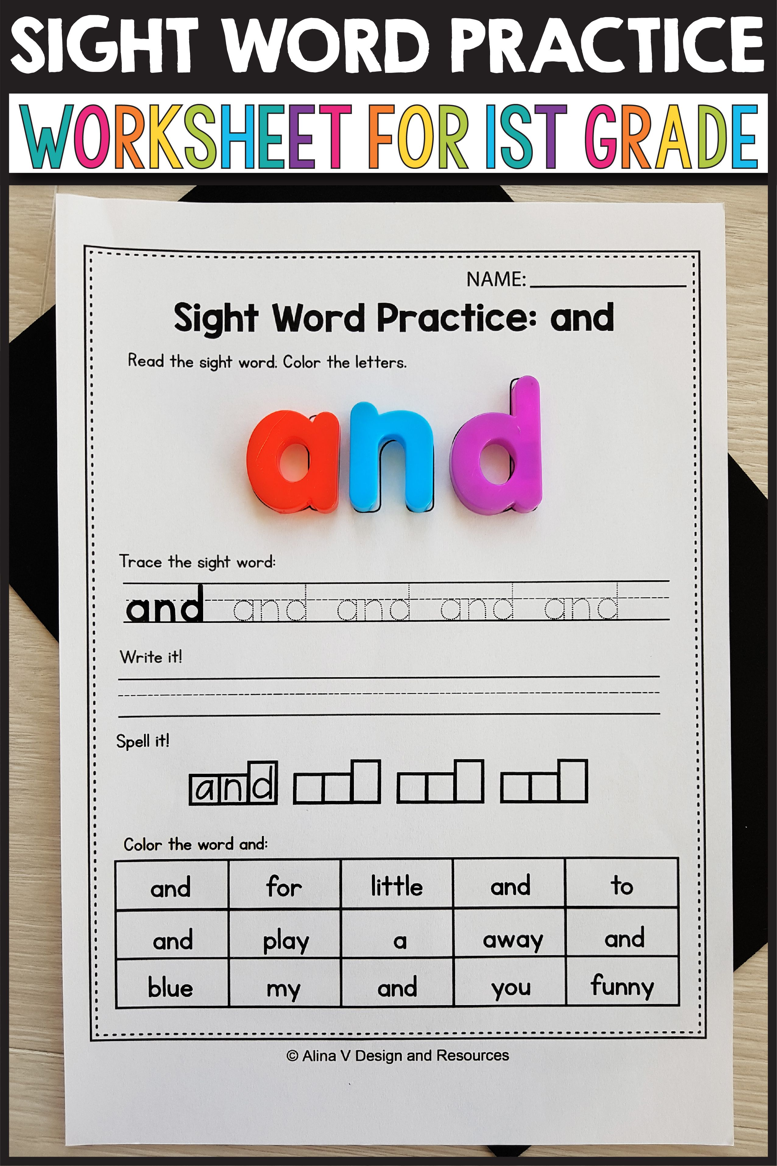 Sight Word Activities 1st Grade Sight Word Practice