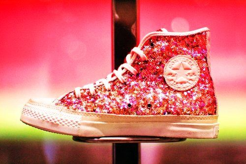 Glitter Converse High Tops Sequins For
