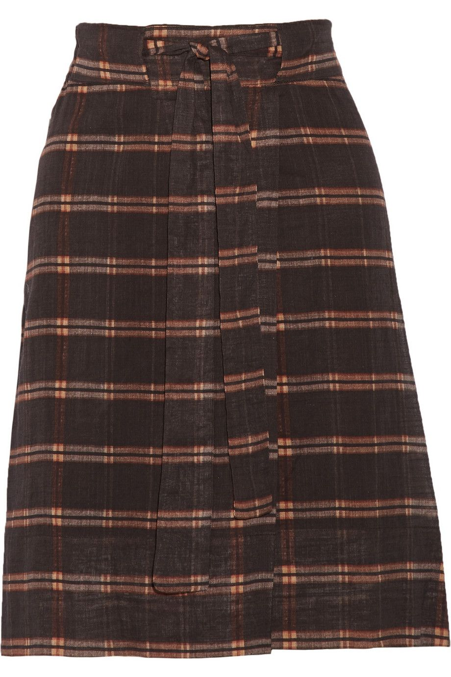 Étoile Isabel MarantVepia plaid cotton skirt