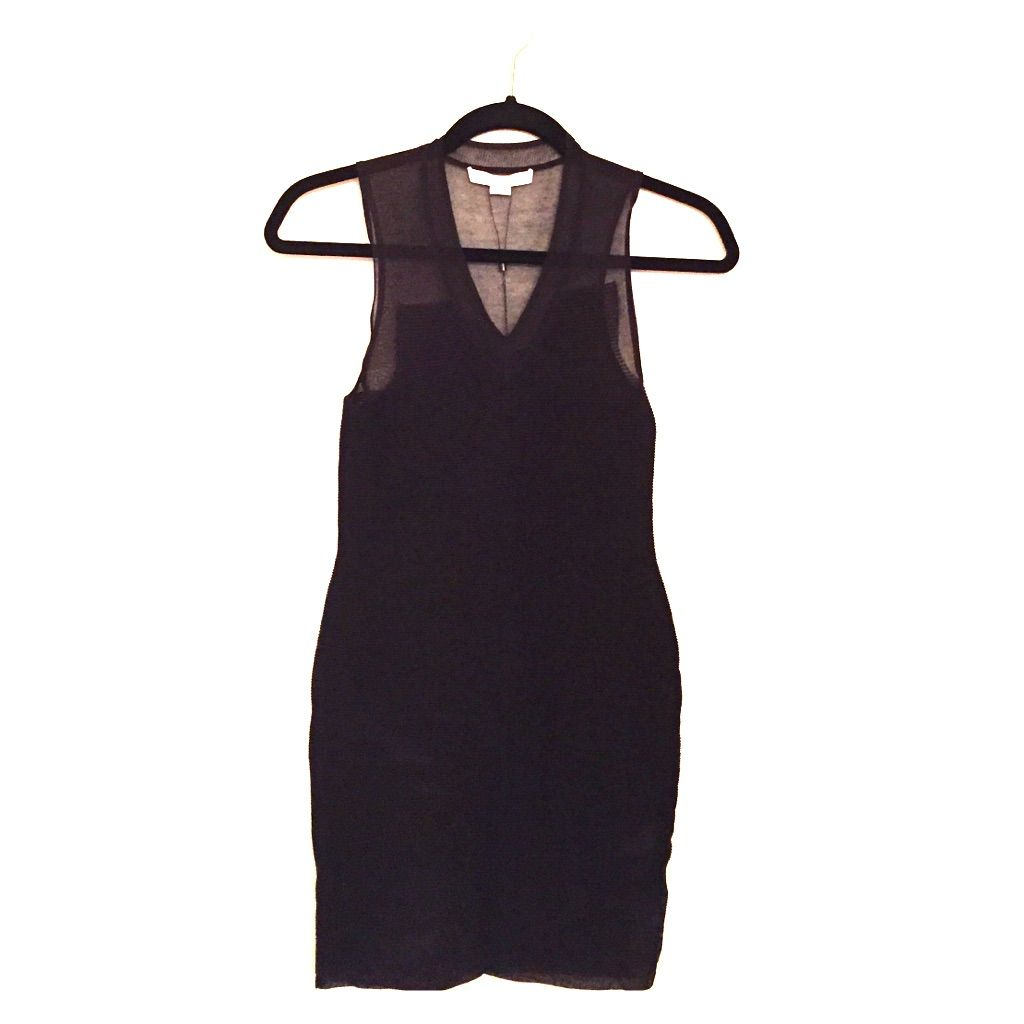 Alexander Wang Black Knit Minidress