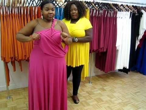 Monif C. Plus Sizes Marilyn Convertible Dress Video #3 Part ...