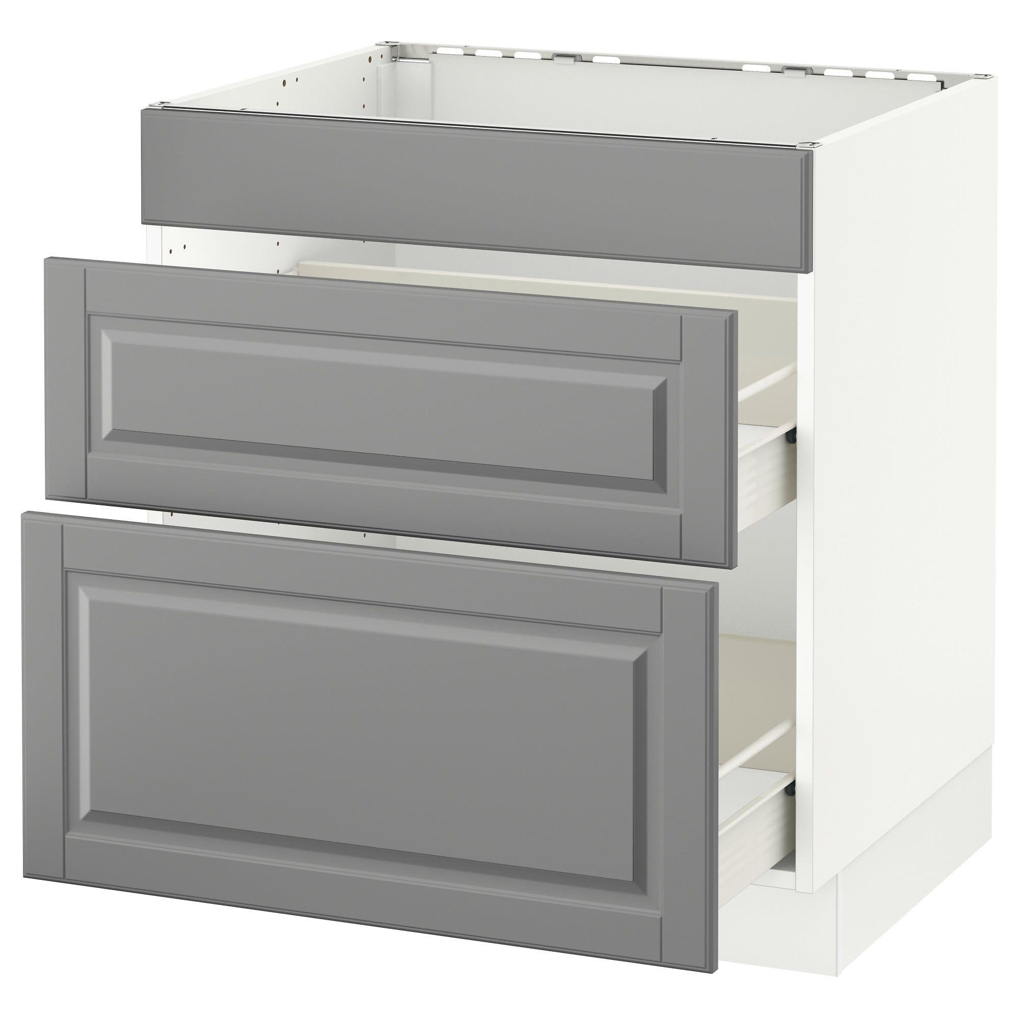 IKEA SEKTION White Förvara, Bodbyn Gray Base cab f/cooktop