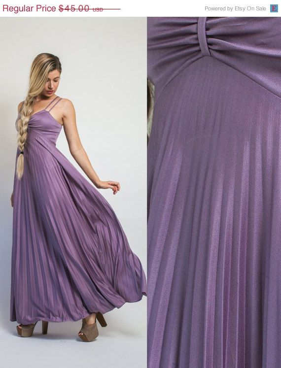 If lilac or purple are your bridesmaid dress colors, this dress is totally going to work! Great price, pretty dress, and your BFF can even wear it again. Love!  --->On SALE Bridesmaid dress Vintage 70s PURPLE maxi by Raxclothing