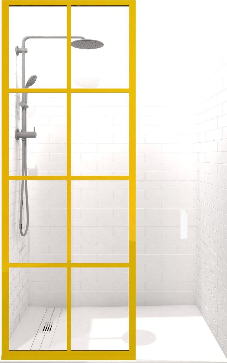 Shower Screen Stabilizer Bar For Fixed Panel Applications Shower