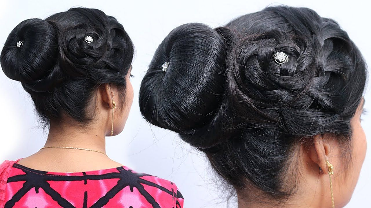 New Twisted Juda Hairstyle Bun Hairstyle For Wedding Guest