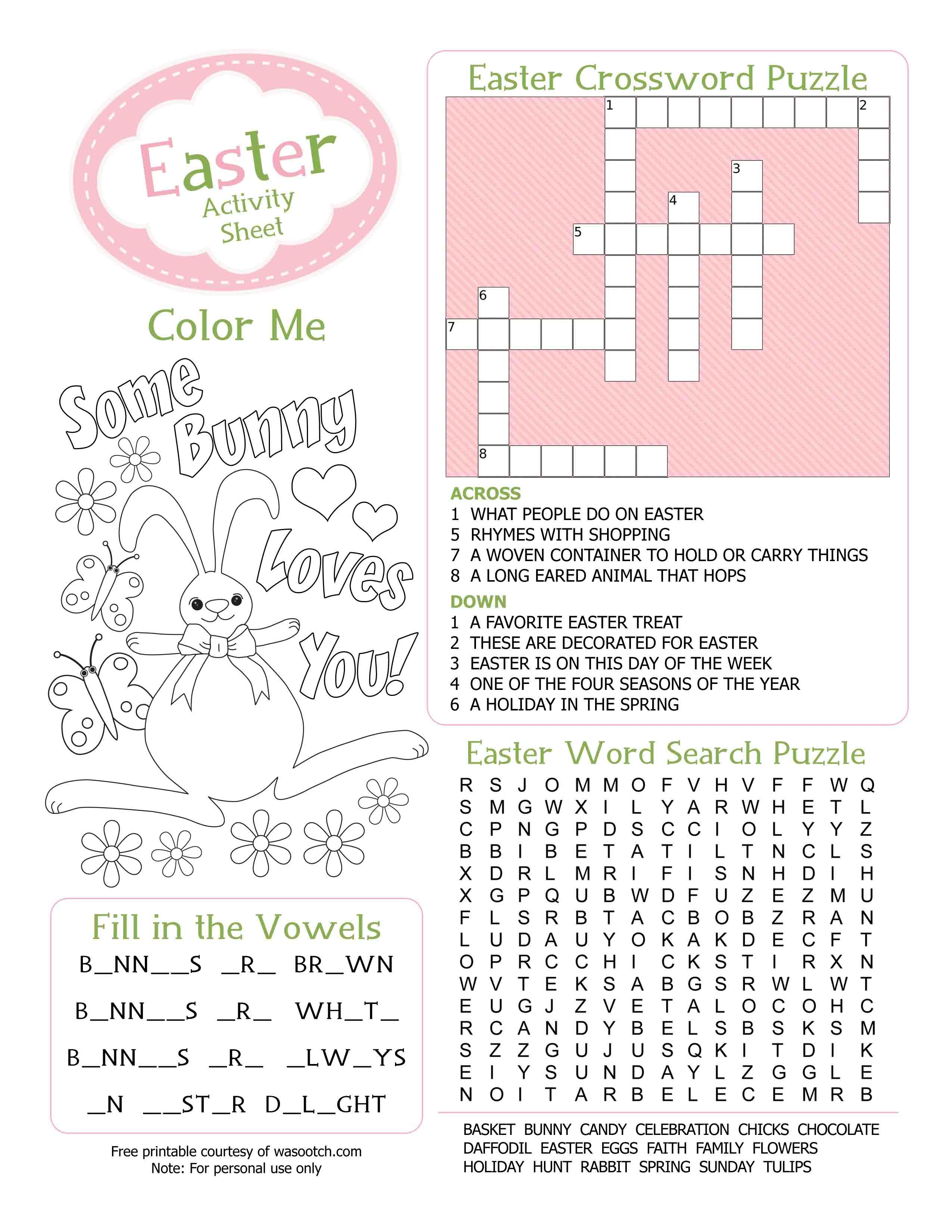 Easter Kid's Activity Sheet Free Printables available @Party ...