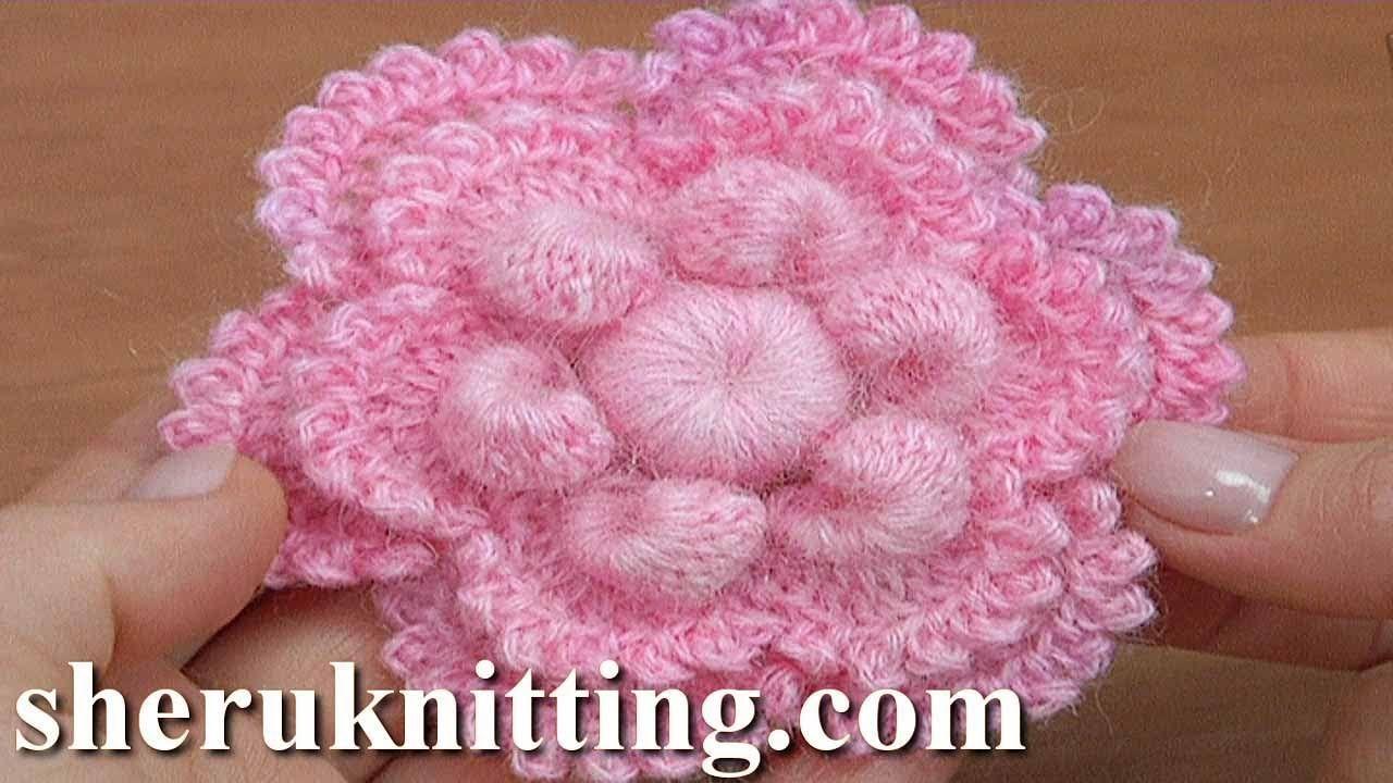 Crochet Simple Flower Tutorial 172 - YouTube   CROCHET   Pinterest ...
