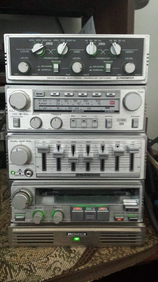 very Rare vintage pioneer car stereo component KP seris