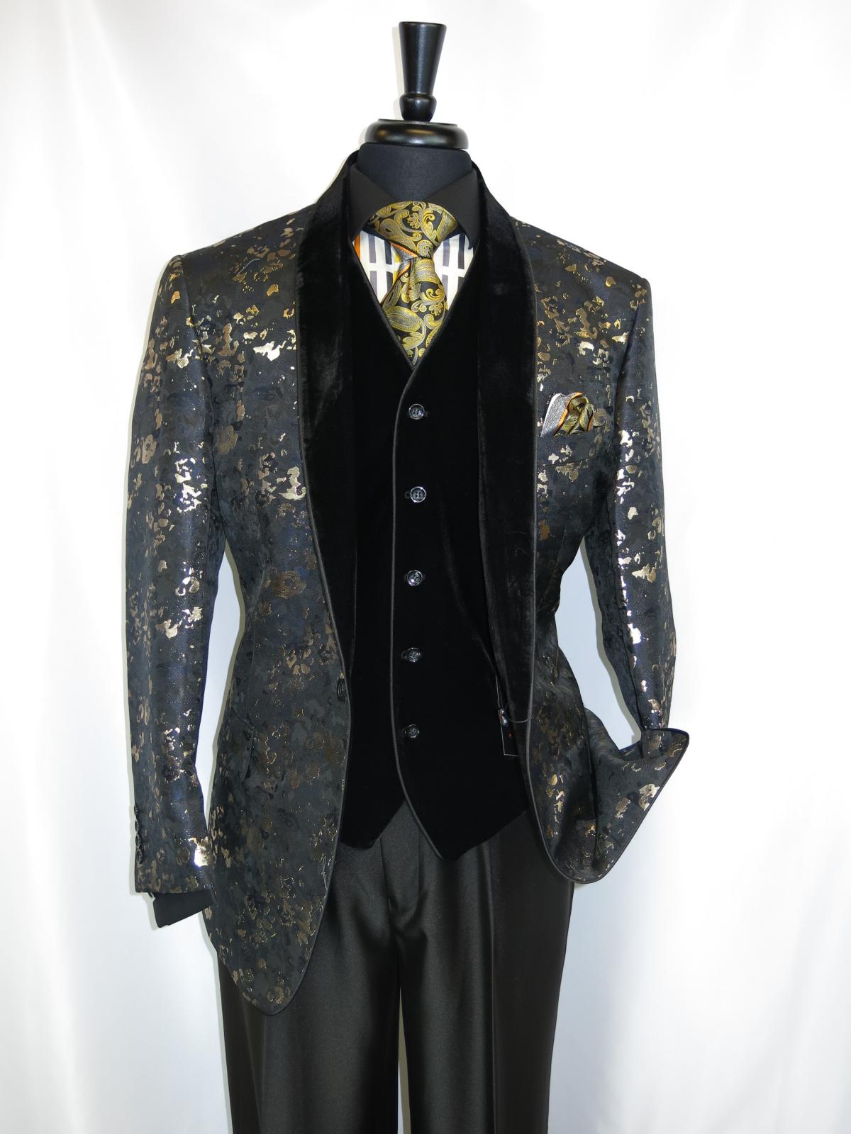 6bec300b527 Pallini S-Fl Men s 2 buttons Vested Suit Jacket in