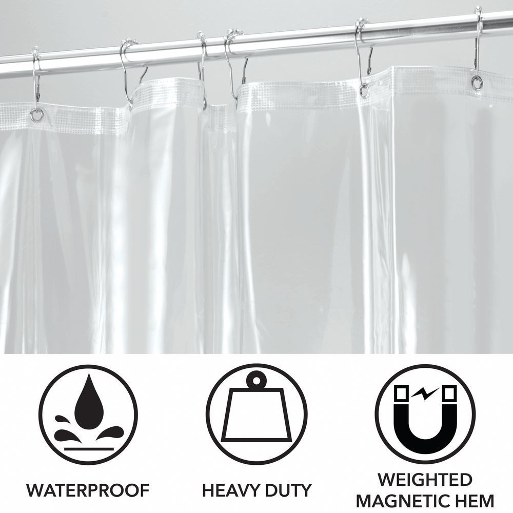 X Wide Vinyl Shower Curtain Liner For Bathroom 108 X 72 In 2020 Vinyl Shower Curtains Fabric Shower Curtains Long Shower Curtains