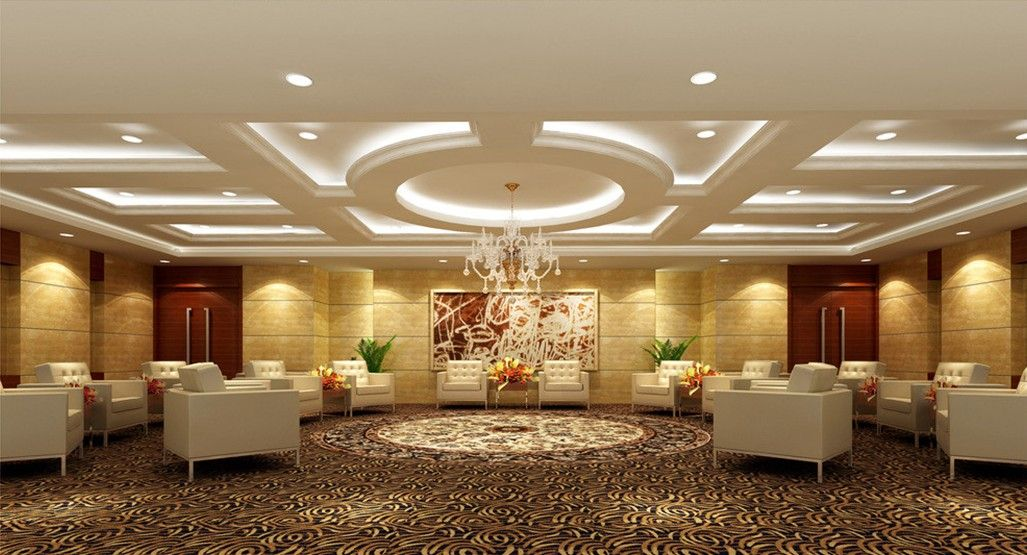 Ceiling designs banquet halls home pinterest for Small dining hall decoration