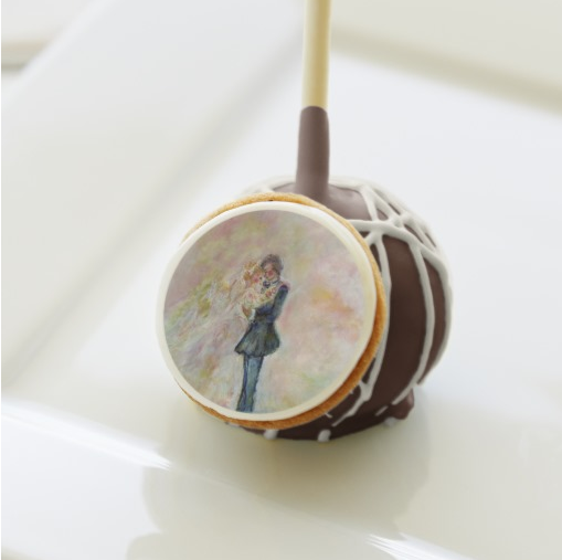 Wedding Dance Art Dozen Chocolate Cake Pops with Milk Chocolate Icing - Perfect Wedding Gifts - Our Top Picks: Wedding Artistic Gifts Favorites by artist Marie-Jose Pappas of Innocent Originals www.innocentoriginals.com