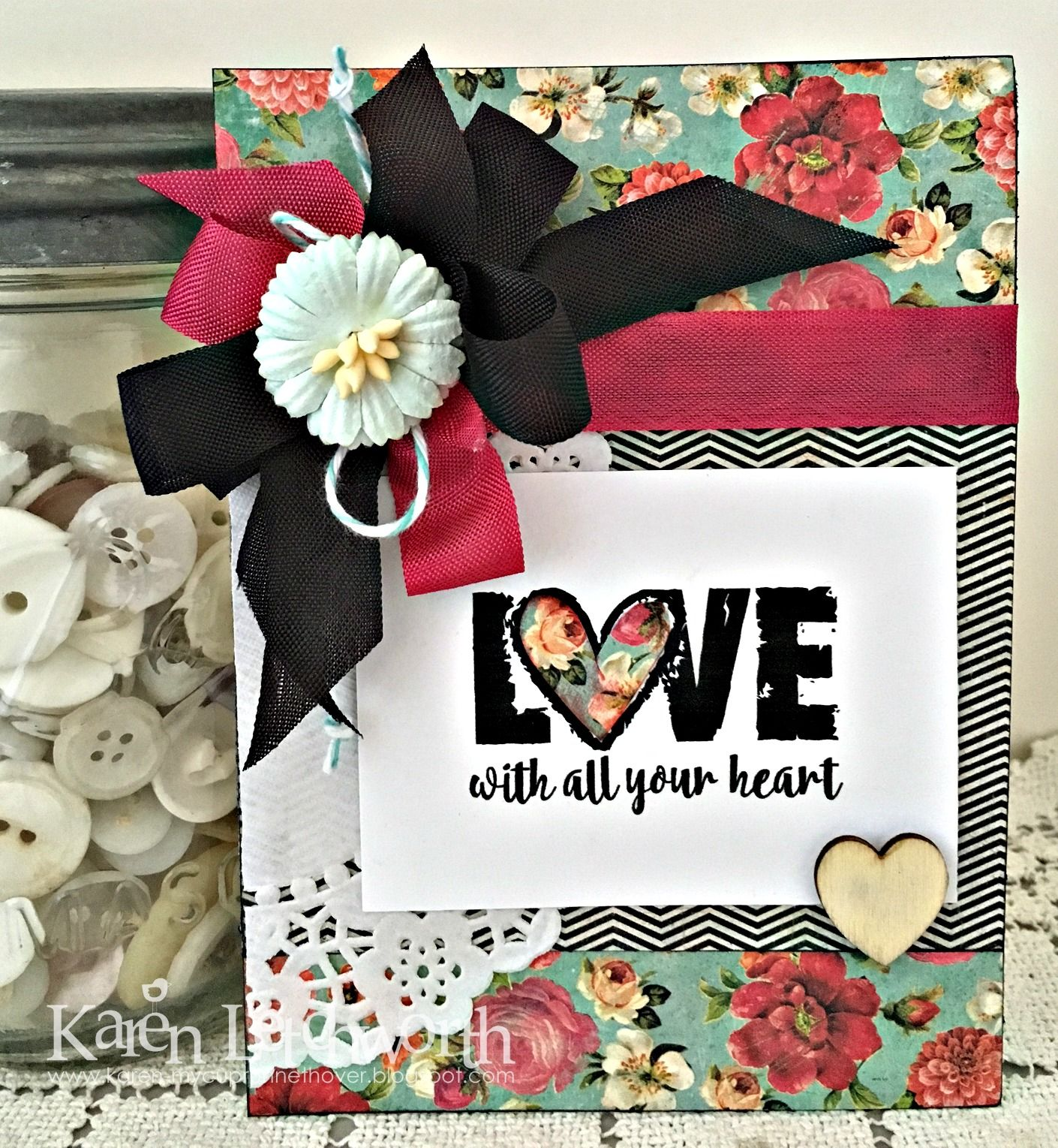 Handmade card by Karen L. using the Love from Me digital set by
