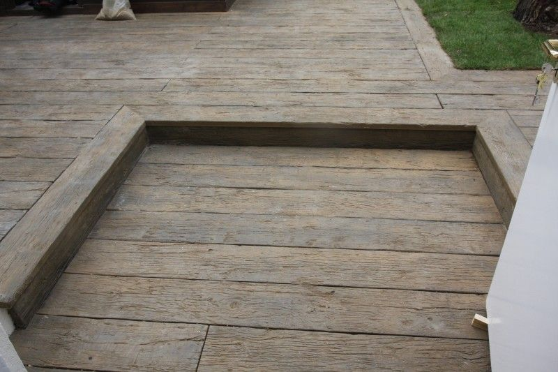 Completed millboard vintage oak composite decking at sure start