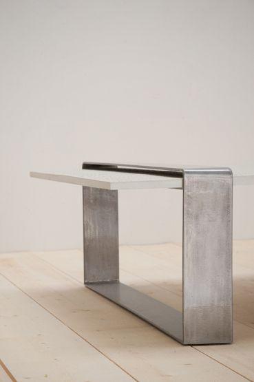 table basse city plateau b ton impression autruche. Black Bedroom Furniture Sets. Home Design Ideas