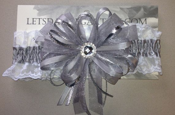 Silver Grey Prom Homecoming Garter with by FlorescenceByDesign, $19.95