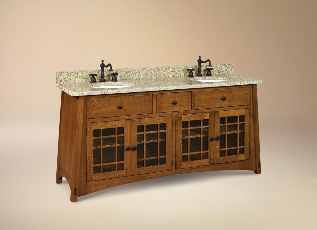 Craftsman bathroom vanity picture mccoy bathroom vanity give your bathroom an opulent update with the help of our amish 72 lancaster mission bathroom double vanity cabinet mozeypictures Images