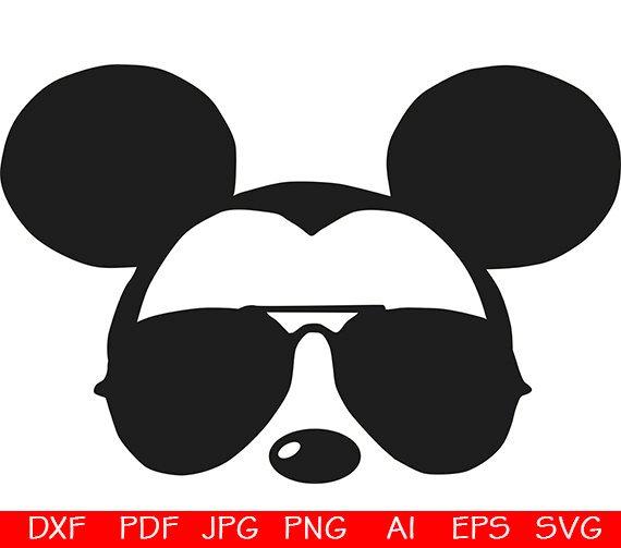 25f99a9b4d Mickey sunglasses svg   Mickey Head Face   Mickey Mouse face   Silhouette  Cameo   Mickey svg   Micke