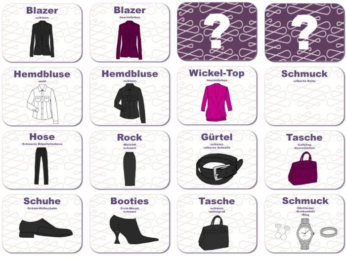 In Teil 2 zum Aufbau einer Business-Basisgarderobe addieren Sie weitere Kleidungsstücke in verschiedenen Materialien, Schnitten und in Akzentfarben.