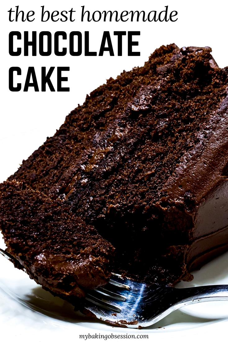 Homemade Chocolate Cake Recipe #chocolatecake