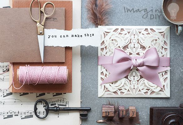 DIY wedding invitation. Luxury DIY wedding stationery supplies. Make your own wedding stationery.