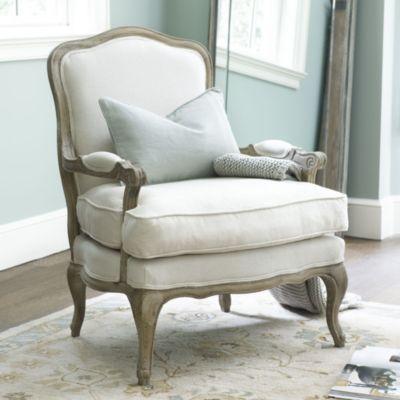 Guest Chairs @ Desk - Louisa Bergere Chair Ballard Designs - sillones para habitaciones