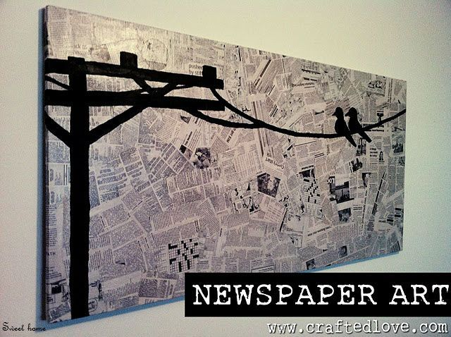 DIY Newspaper Art- What's the Word Bird for Data Board