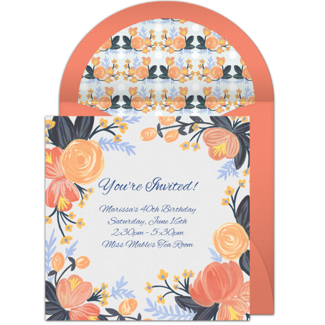 Free Peach Blossoms Invitations  Peach Blossoms Peach And Party