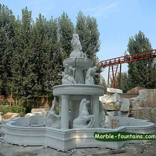 Genial Large Outdoor Fountains Stone