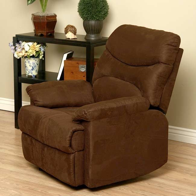 Brown Recliner Chair Lounge Deep Seating Living Room