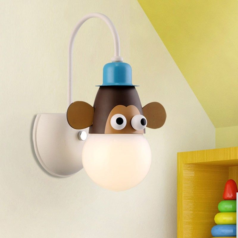 Joy Colorful 1 Light Animal Shaped Kids Room Wall Sconce