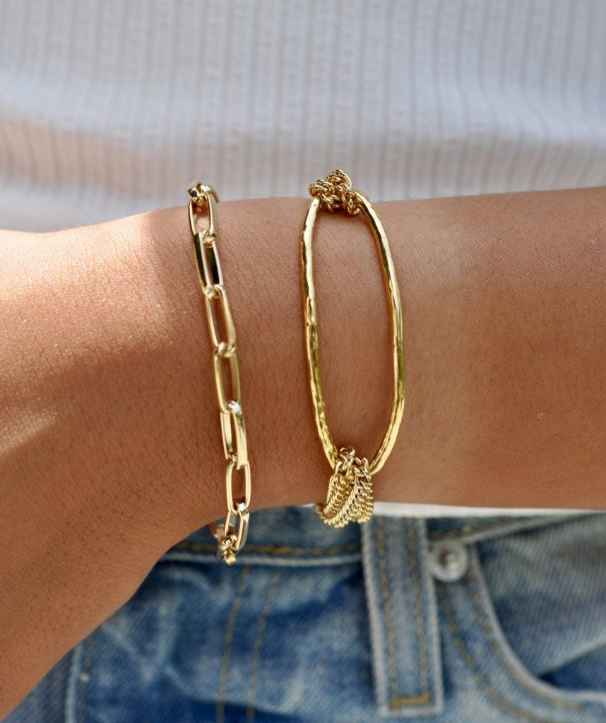 Nolan Chain Link Bracelet Chain Link Bracelet Bracelets 14k Gold Plated