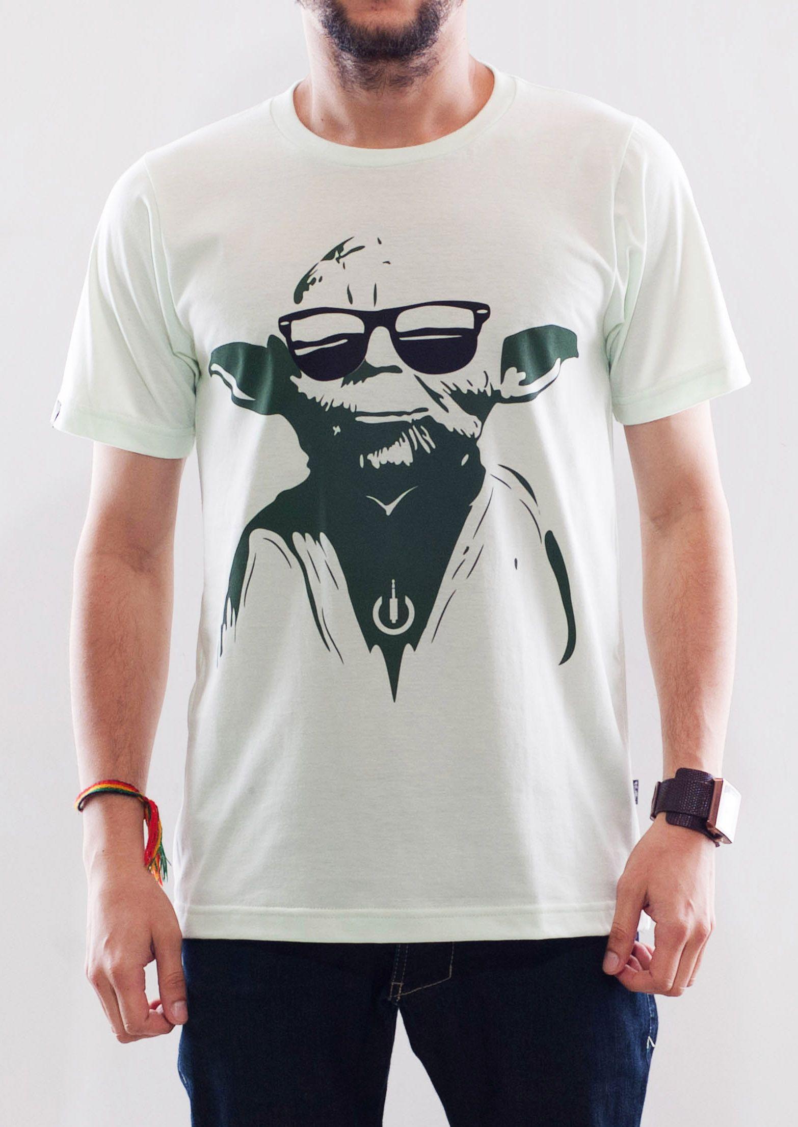 Camiseta Plugging Yoda, masculina e feminina, 100% algodão
