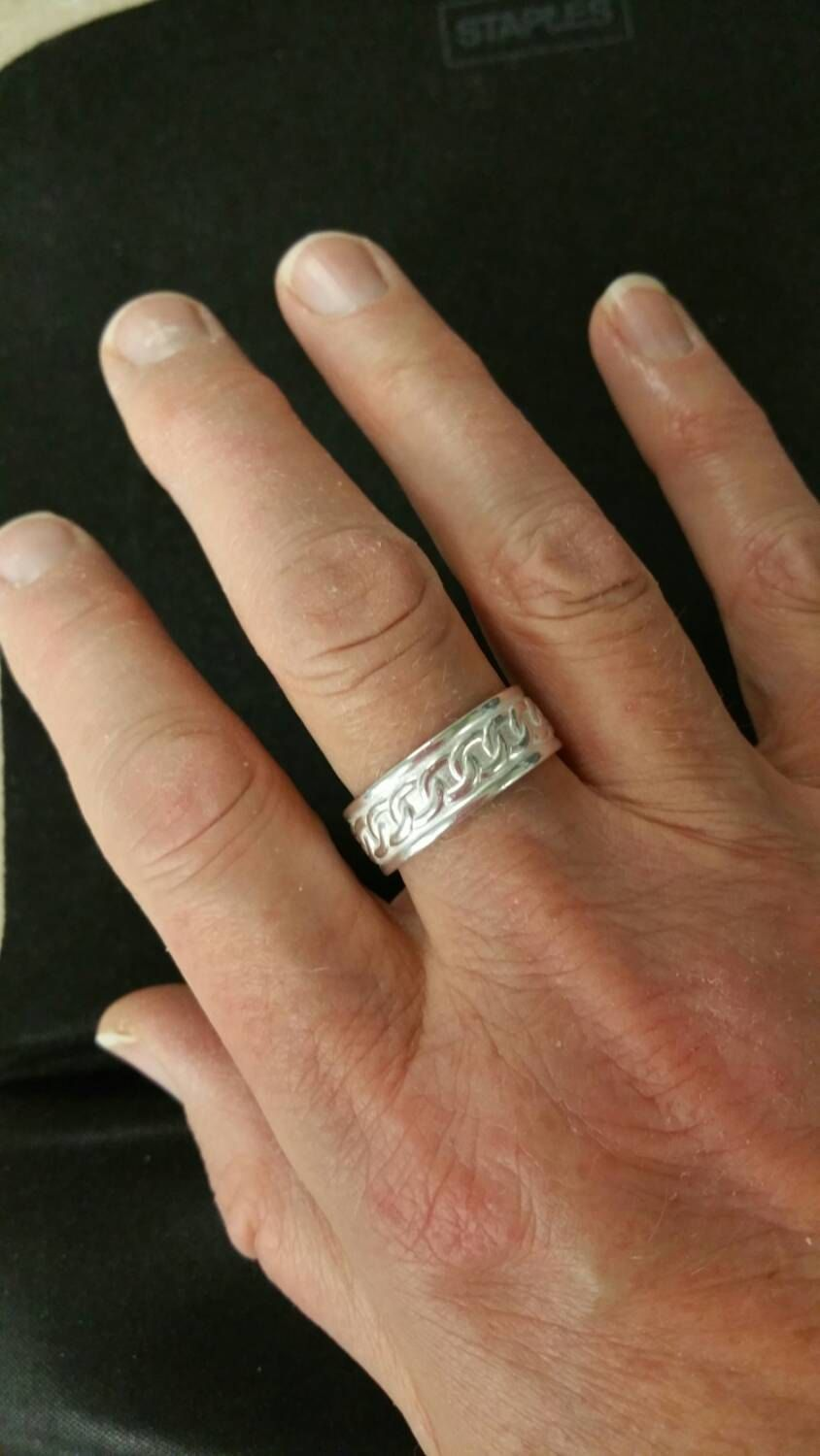 100% Sterling Silver Pattern Wire Ring