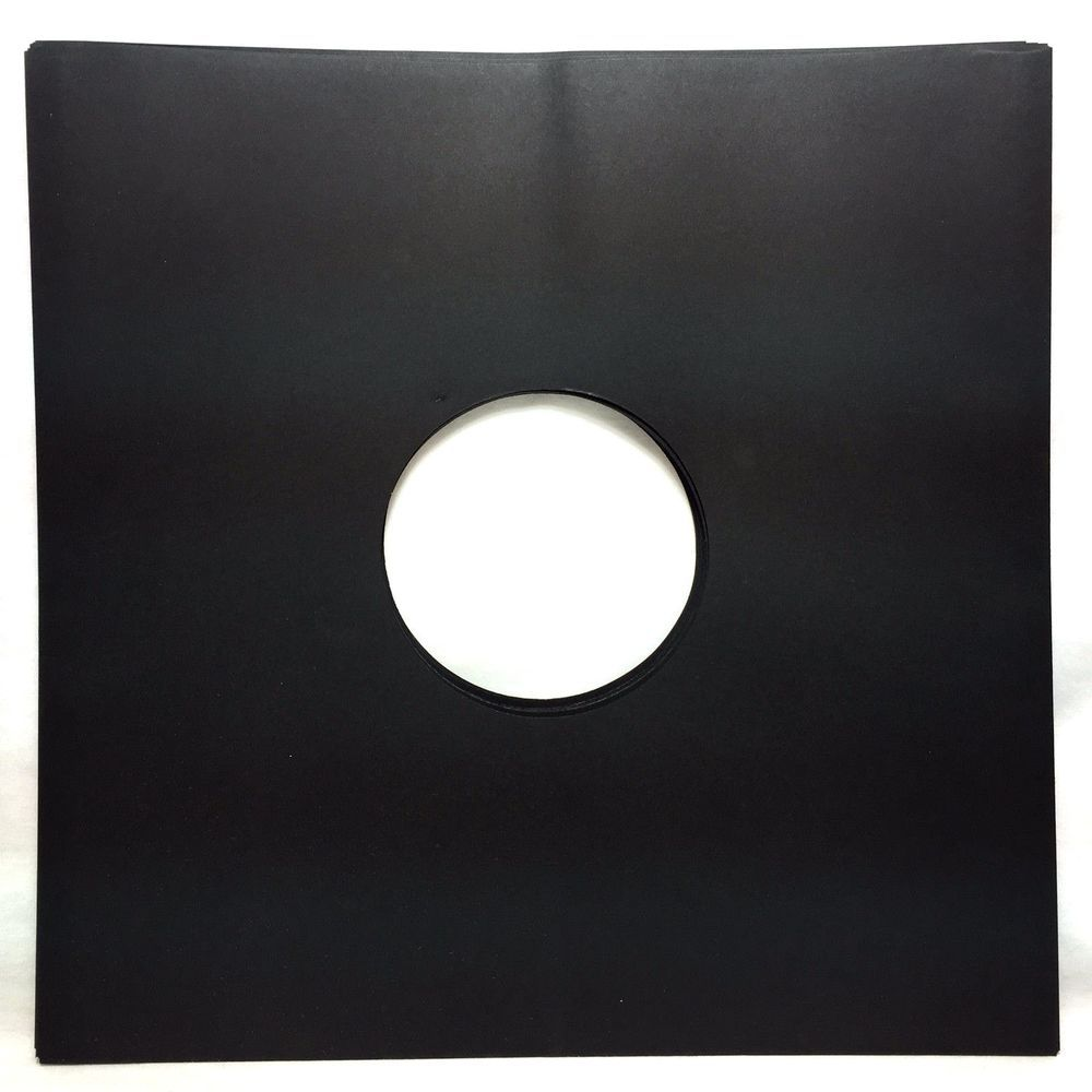 25 Black Paper Record Inner Sleeves Lp Vinyl 12 Album 20lb Stock 33rpm Paper Lp Vinyl Black Paper Vinyl Record Sleeves